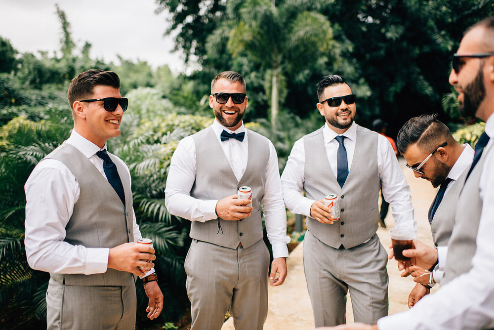 groomsmen at Royalton White Sands in Montego Bay, Jamaica