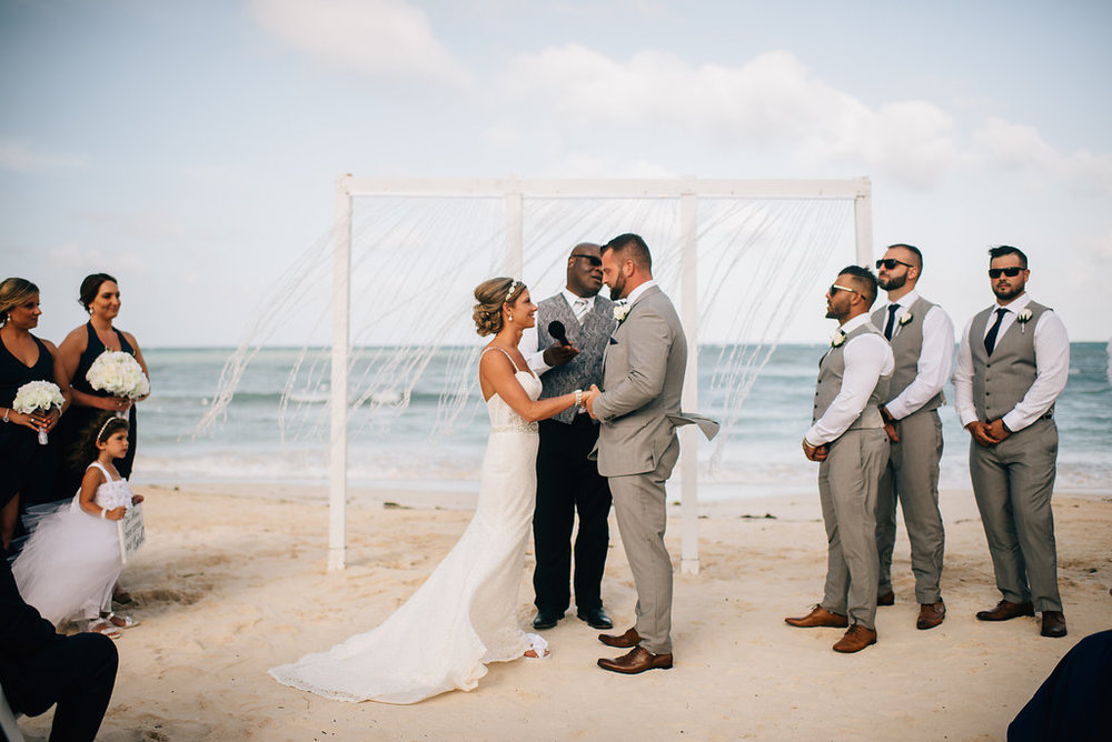 wedding ceremony at Royalton White Sands in Montego Bay, Jamaica