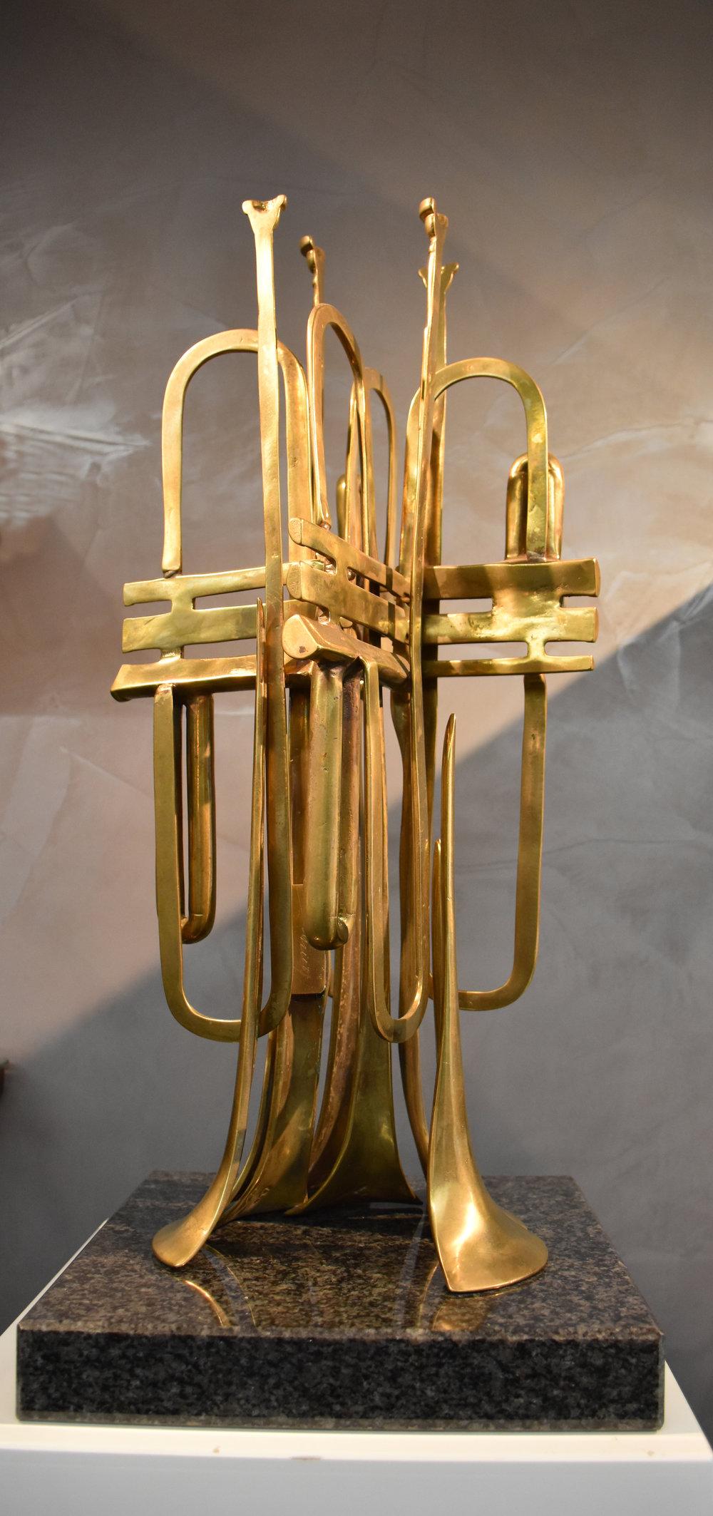 Trompettes Decoupees - 1989Bronze68/10060 x 25 x 28 cm