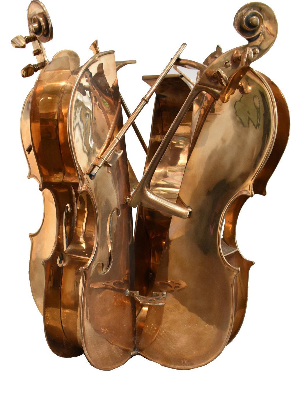 Table Violons - Bronze76 x 55 x 55 cm