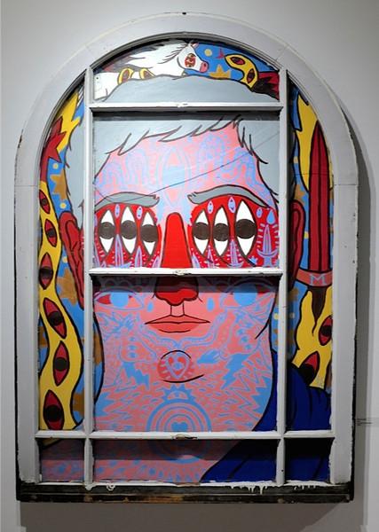 Jose Morihno - Acrylic on found object125 x 86 cm