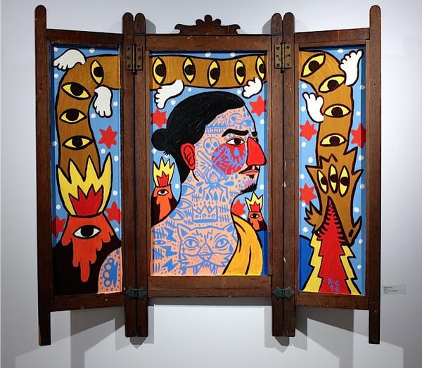 Zlatan - Acrylic on found object89 x 45 cm