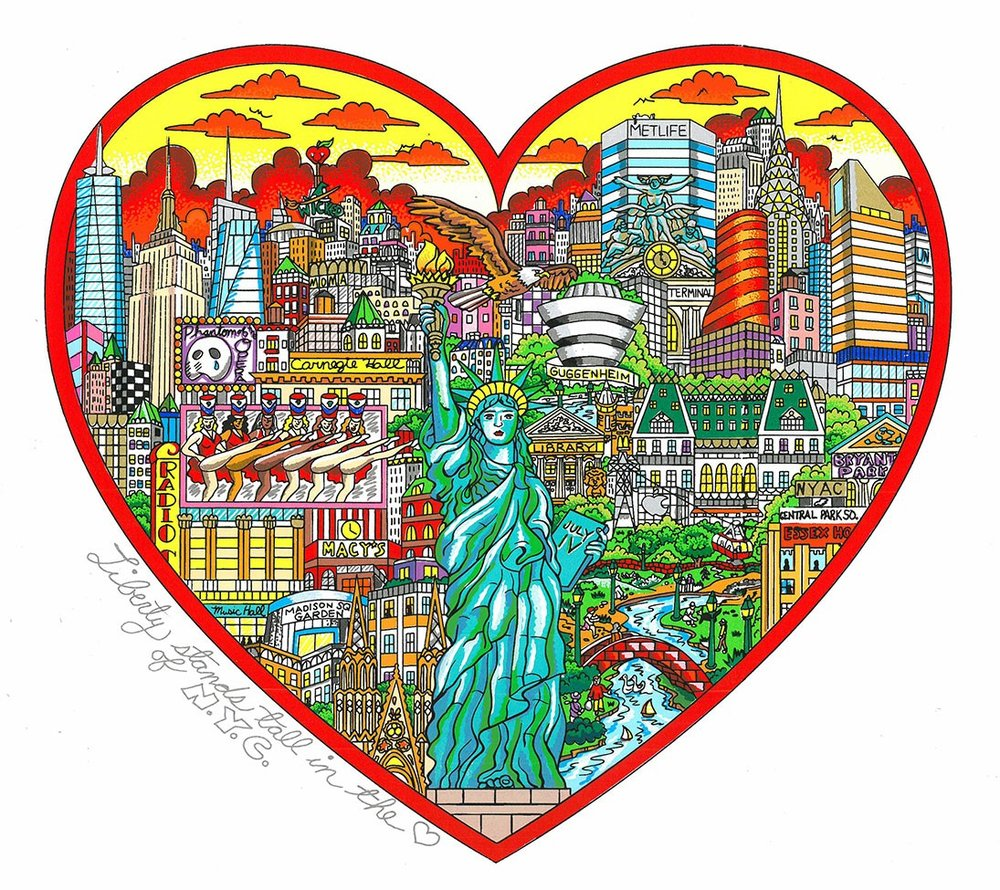 Liberty Stands Tall In The Heart Of NYC - 55 x 55 x 5 cm