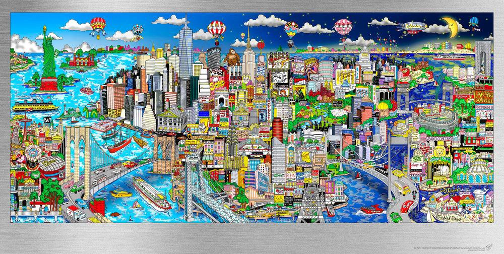 Illusions Of NYC - 76 x 130 x 6 cm