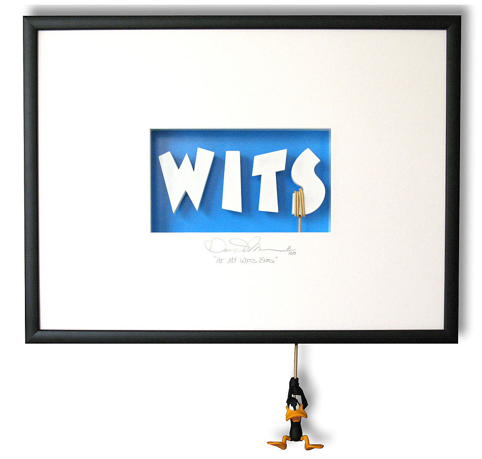 At My Wits End - Limited edition of shadow box69 x 51 x 13 cm