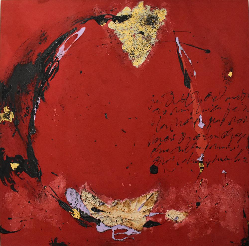 Rien Ne Disparait - 2011Mix media on canvas140 x 140 cm