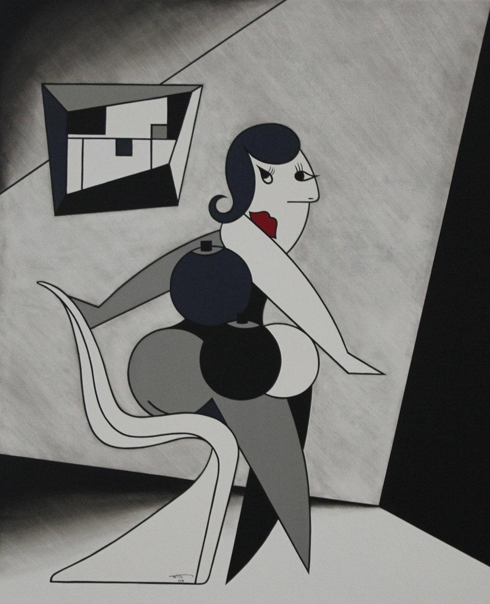 Femme A La Panton - Oil on canvas112 x 91 cm
