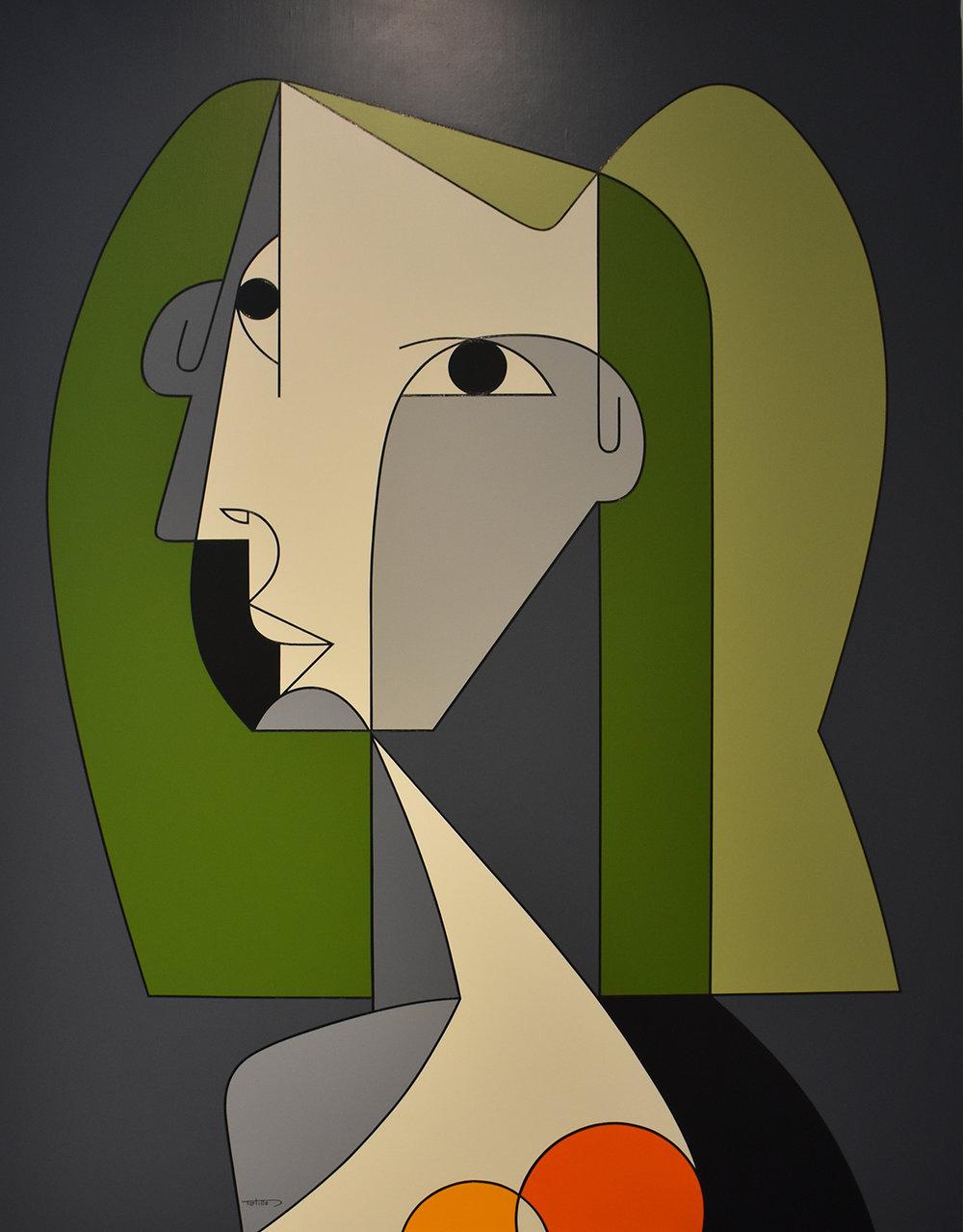 Portrait De Femme - Oil on canvas116 x 89 cm