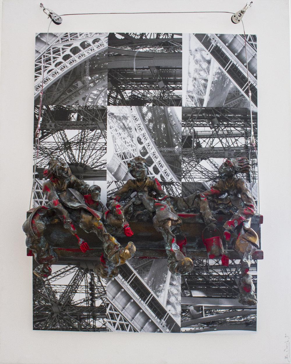 Pourquoi Pas En Rouge - 2013Resin on metal100 x 80 cm