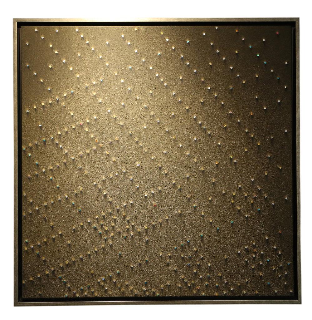 Bisanzio B4H - 2000/2011Mixed media on canvas120 x 120 cm