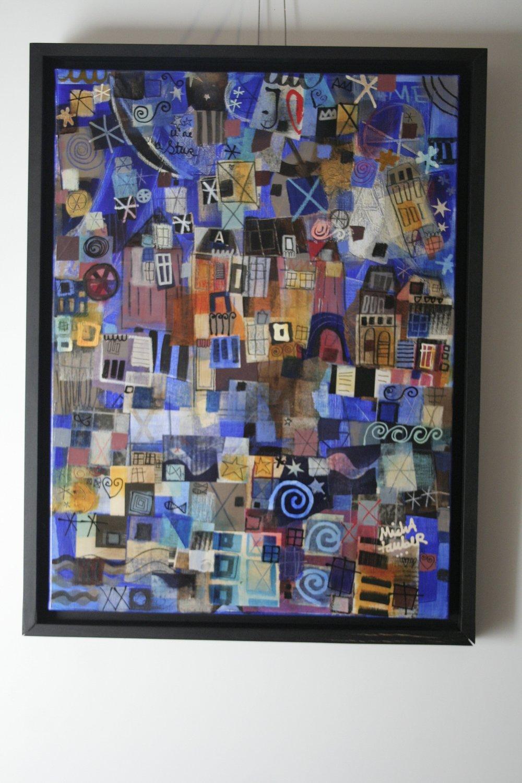 Break The Night - 2013Mixed media on canvas73 x 54 cm