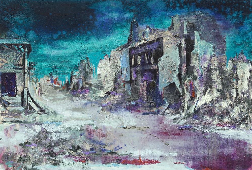 Blue Sky - Oil on canvas80 x 120 cm
