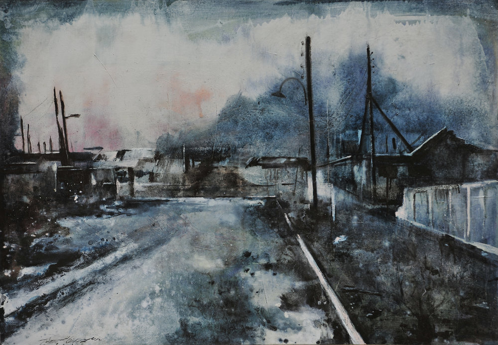 Alley - Oil on canvas80 x 120 cm