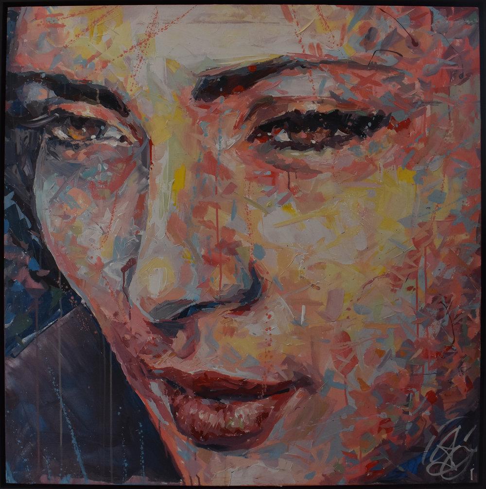 Un Café Place Richelme - Acrylic on canvas100 x 100 cm