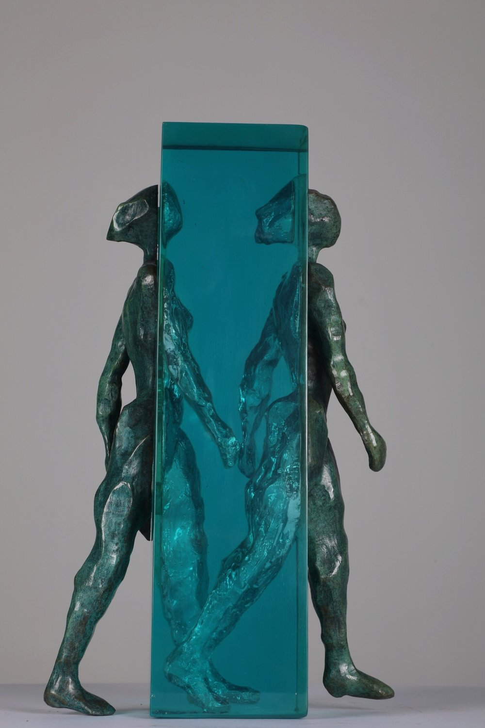Univers Virtuel - Bronze and glass7/8H: 45 cm