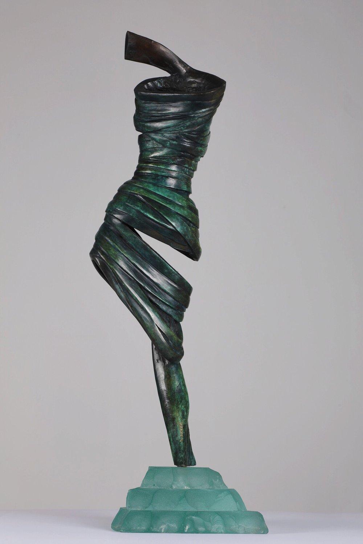 Tourbillon - 2012Bronze and glassH: 55 L: 18 cm