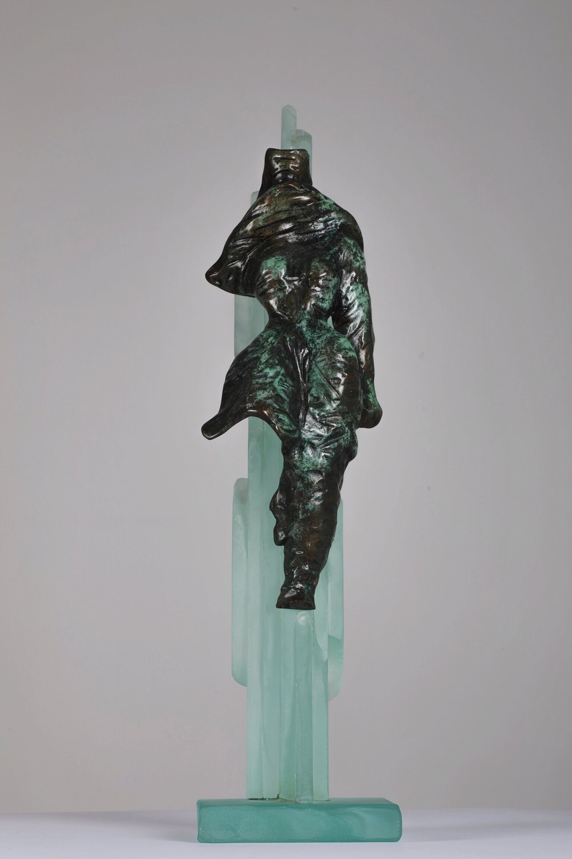 Dans Le Desert - Bronze and glass2/4H: 50 cm