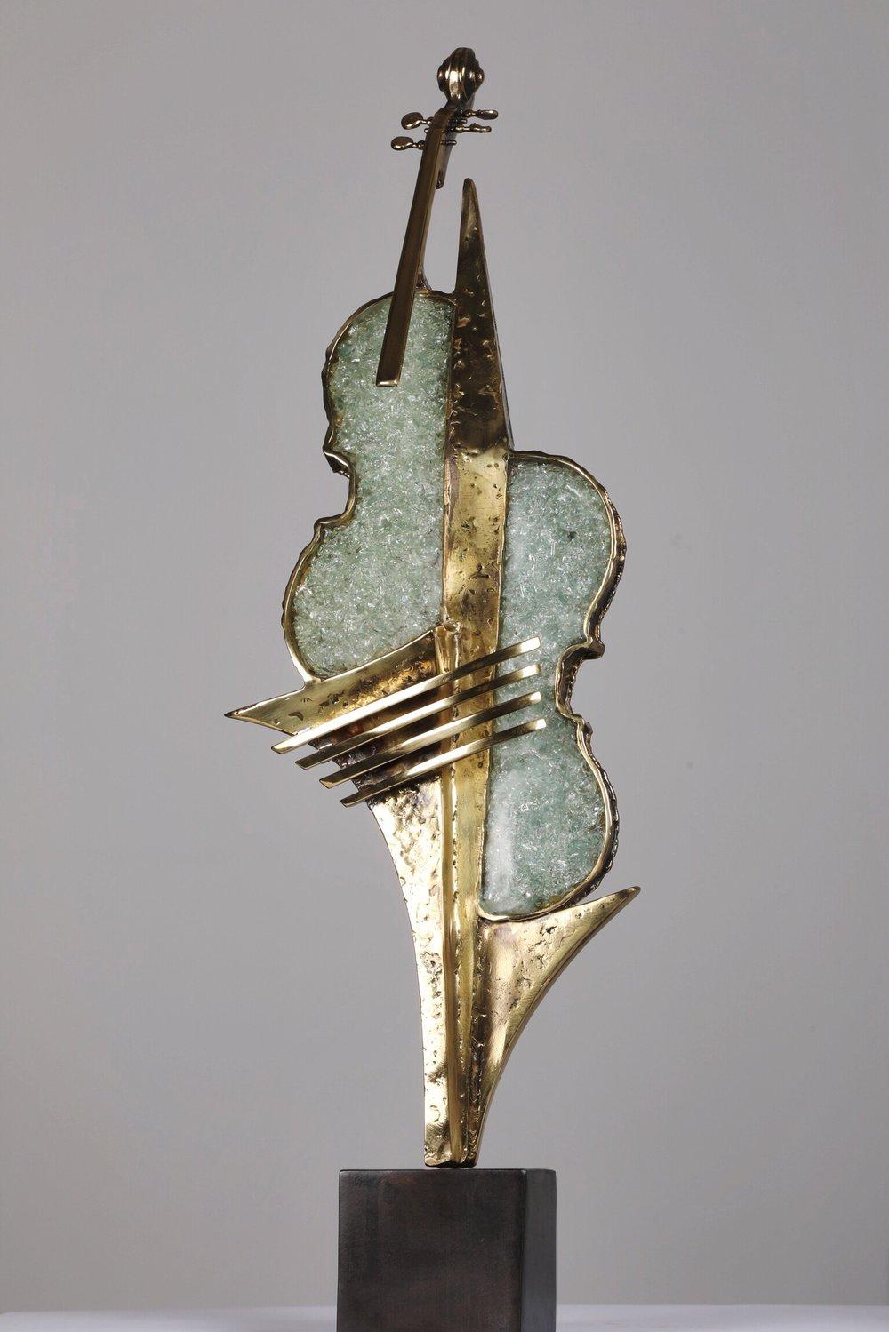 Hommage A Stradivarius - 2012Brass and glassH: 70 cm