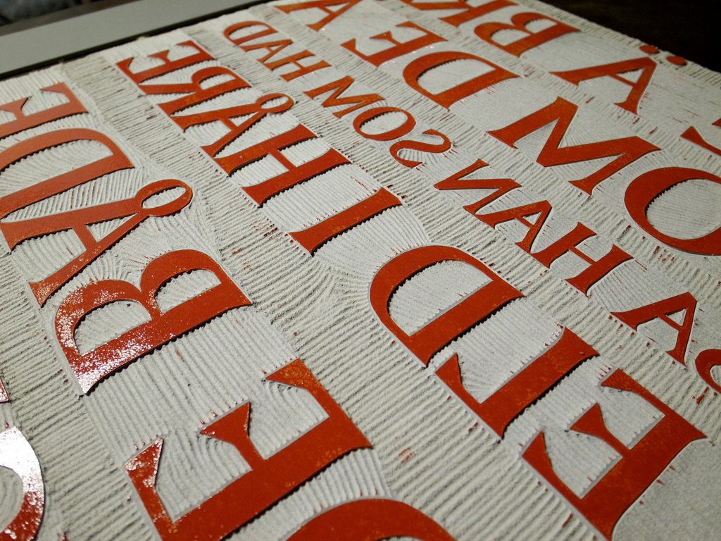 tangible letters & sticky ink