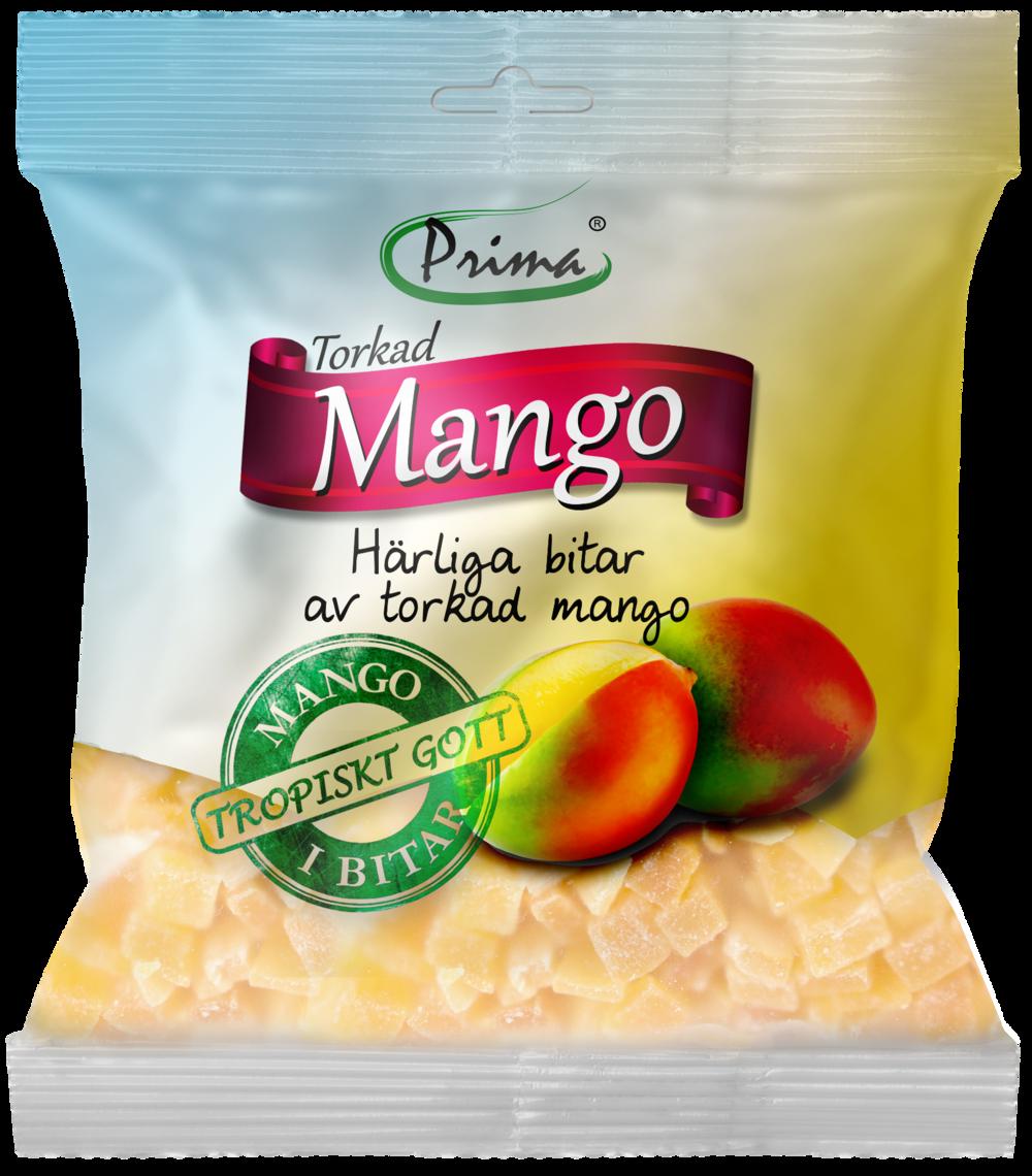 Torkad mango - Härliga bitar av torkad mango. Påsen innehåller 175 g.Ingredienser:Torkade bitar av mango, socker, konserveringsmedel E220, surhetsreglerande E330Näringsvärde per 100gEnergi 360kcal/1507 kJFett 0g, varav mättat fett 0gKolhydrater 90g, varav sockerarter 74gProtein 1gSalt 287,5mg