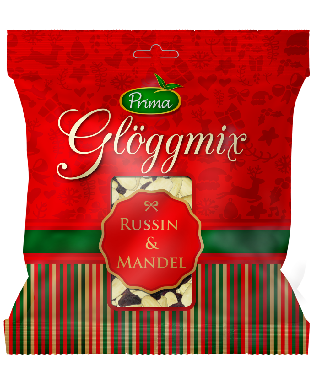 Glöggmix - Russin och skållade mandlar.Ingredienser:Russin, mandelNäringsvärde per 100g