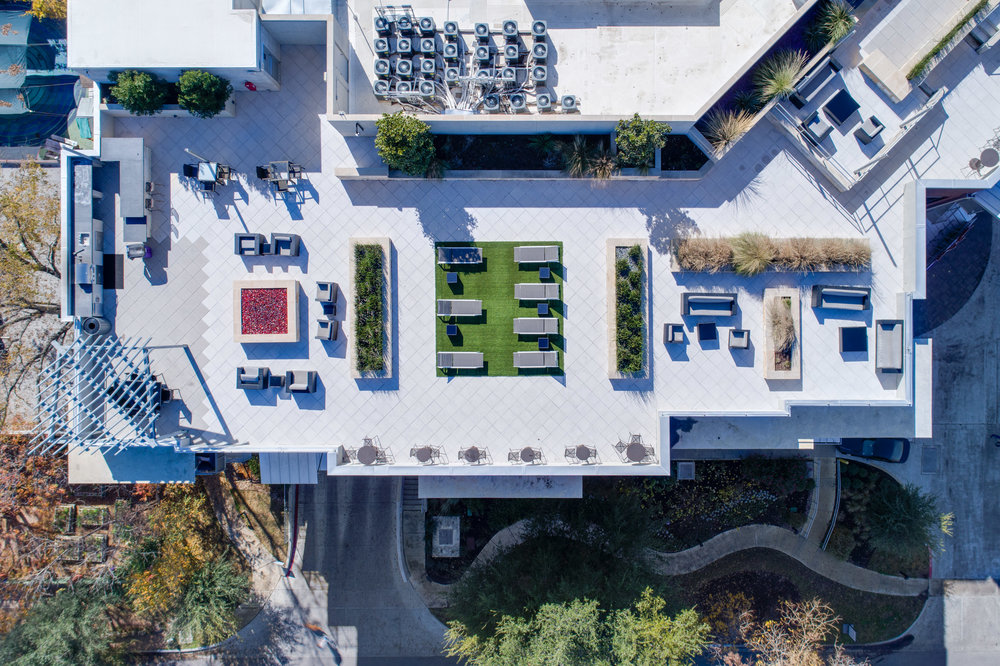 Coldwater - Austin, Texas (Rooftop Patio view from above)
