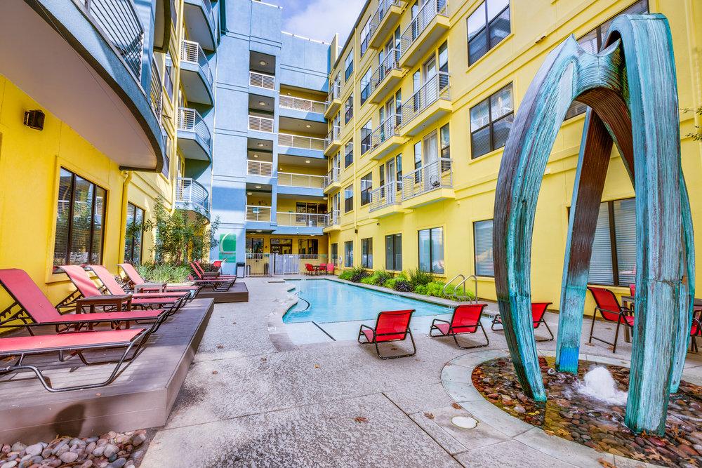 Crescent - Austin, Texas (Interior Courtyard & Pool)