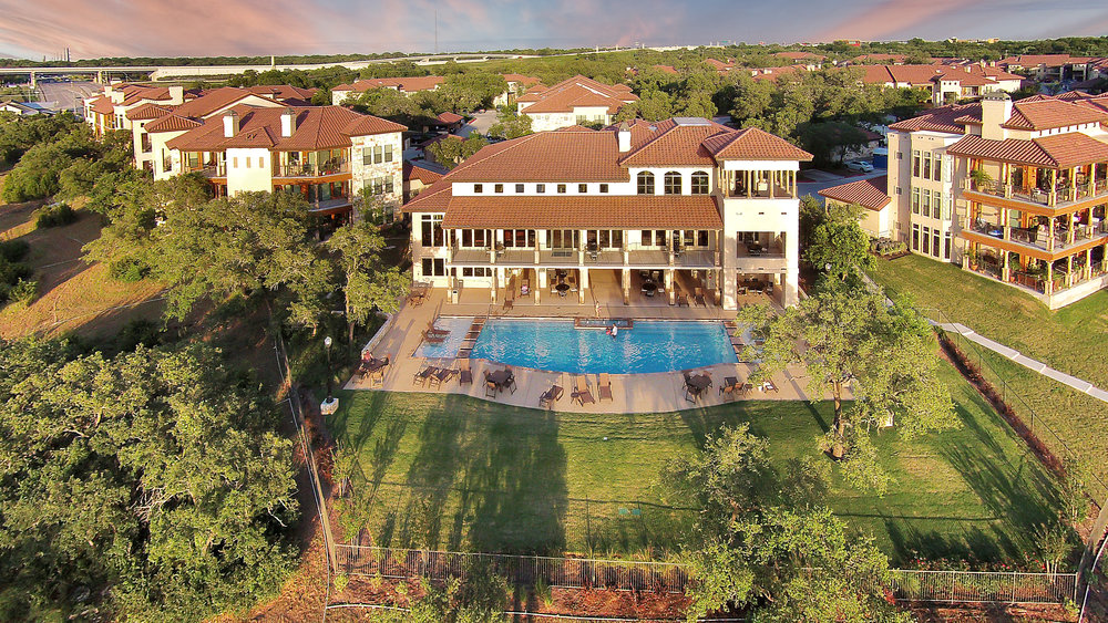 Muir Lake - Cedar Park, Texas (Clubhouse from above)