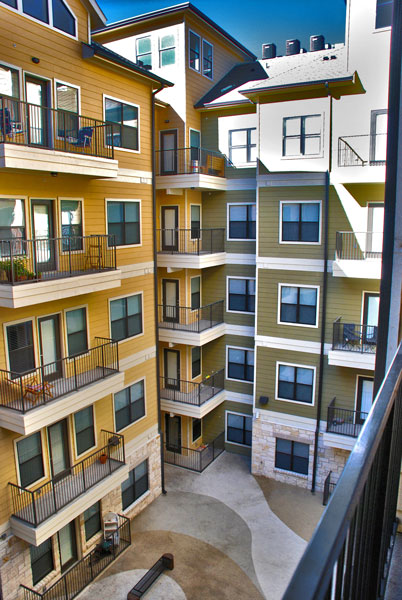 Block at Rio Grande - Austin, Texas (Interior Courtyard)