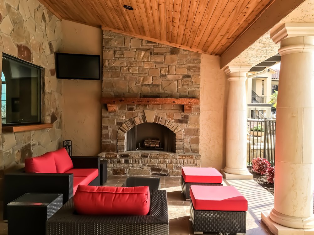 Creekside at Parmer Lane - Austin, Texas (Leasing Office Outdoor Lounge)
