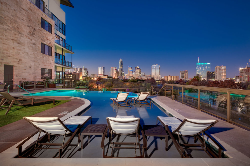Water Marq - Austin, Texas (Rooftop Pool & the Austin Skyline)