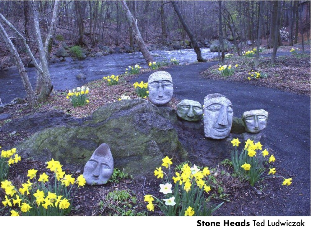 A place where makers hone their craft,sculptures line a roaring creek… -