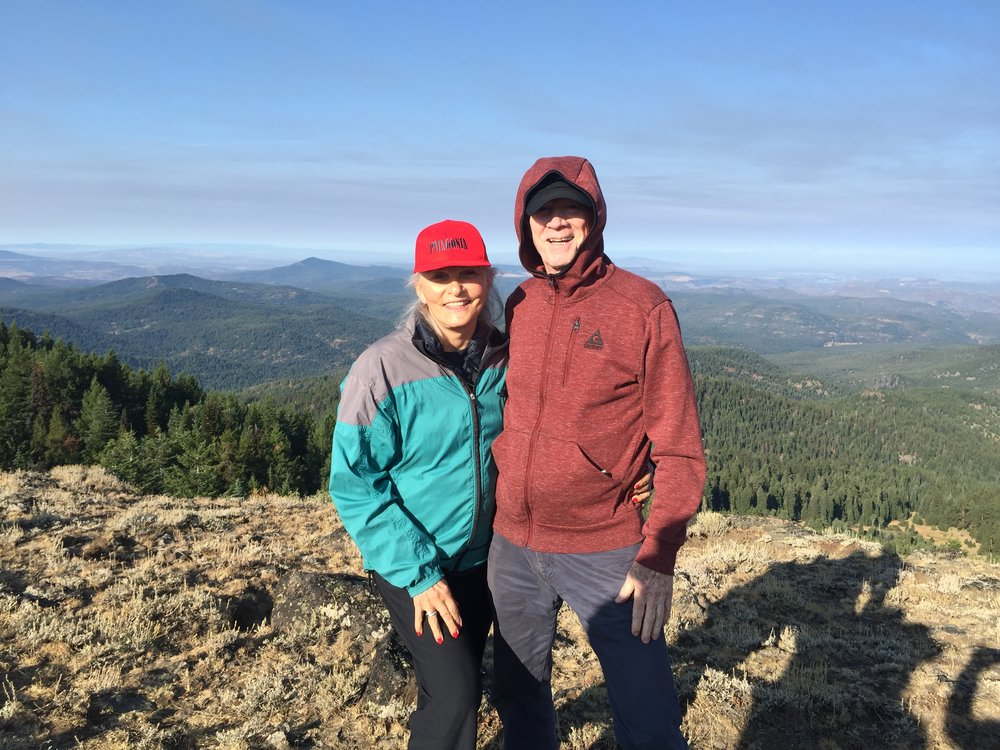 Nancy and I in Oregon for the total eclipse of the Sun...