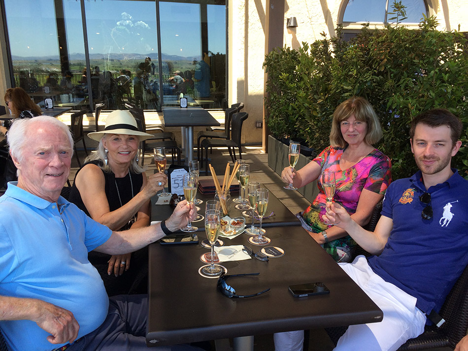 Nancy and I enjoying Sonoma wine tasting with a couple of our Dutch friends