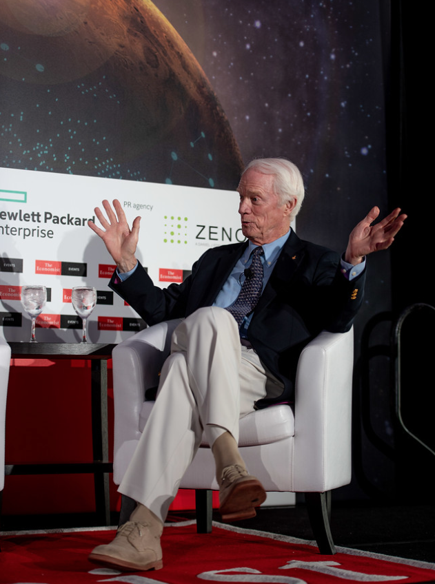 Pic taken during the opening panel session at the Economist magazine's recent Space Forum 2018