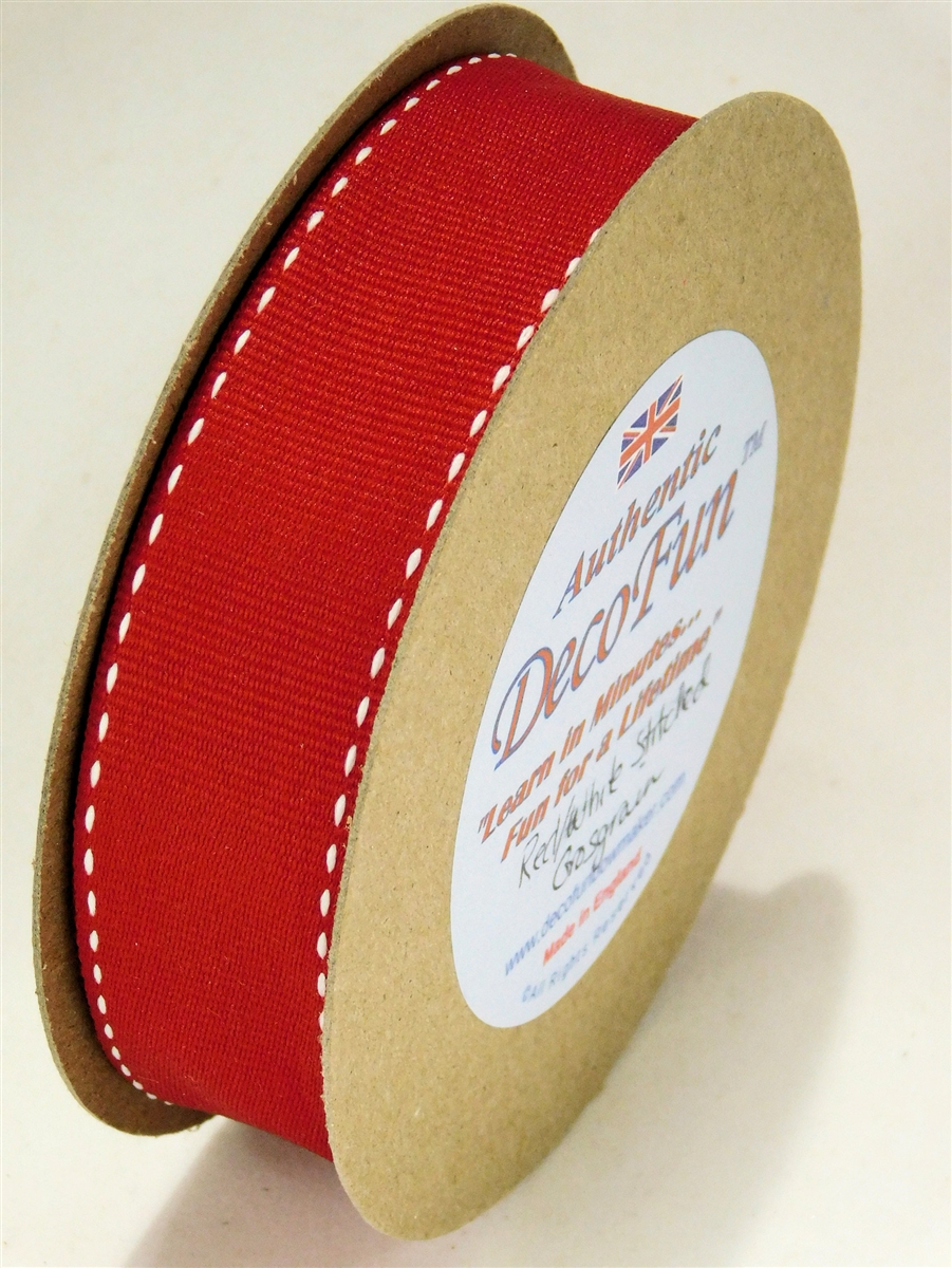 C101A-024g Red Ribbon Stitched Grosgrain.jpg