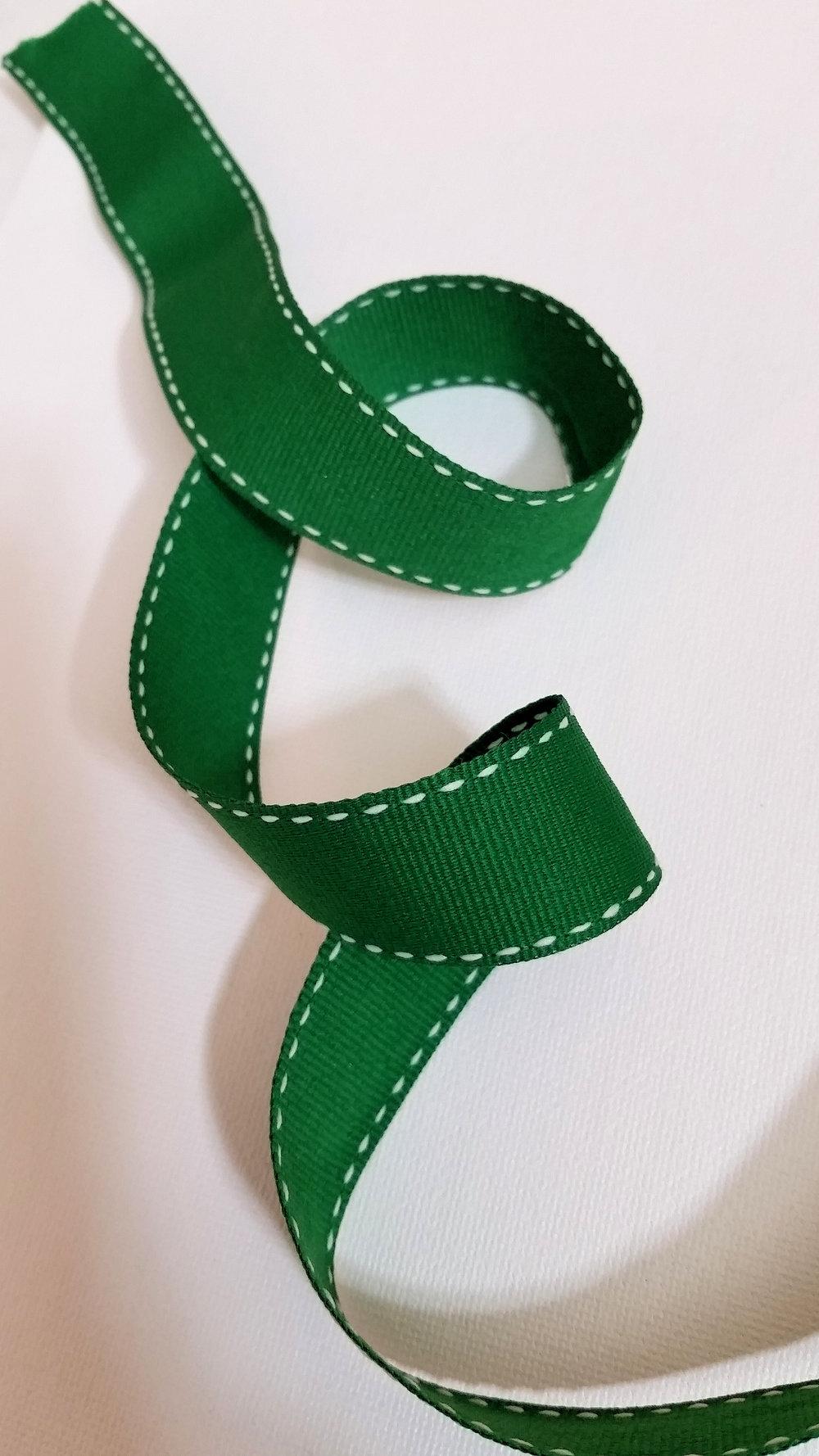 Stitched Edge Green Ribbon.jpg