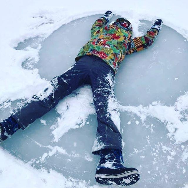 Ice snow angels on Pen Lake!  Creds J Morris