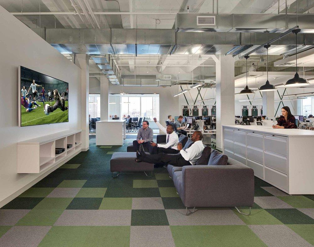 Milwaukee Bucks interior design photography