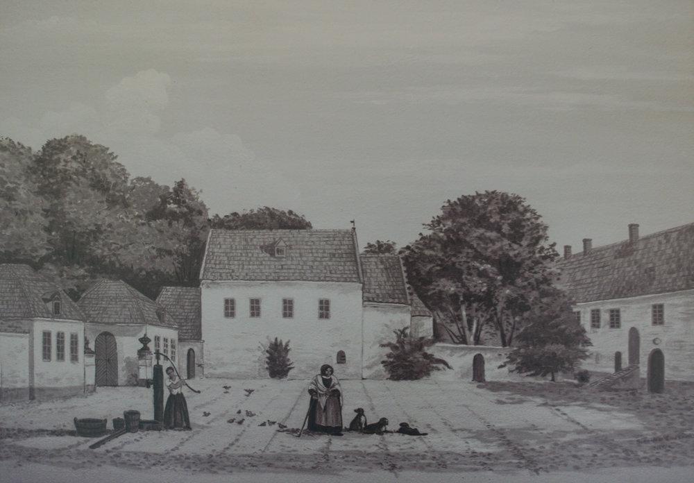 Bosiö Kloster innan renoveringarna i romantisk stil under 1800-talet