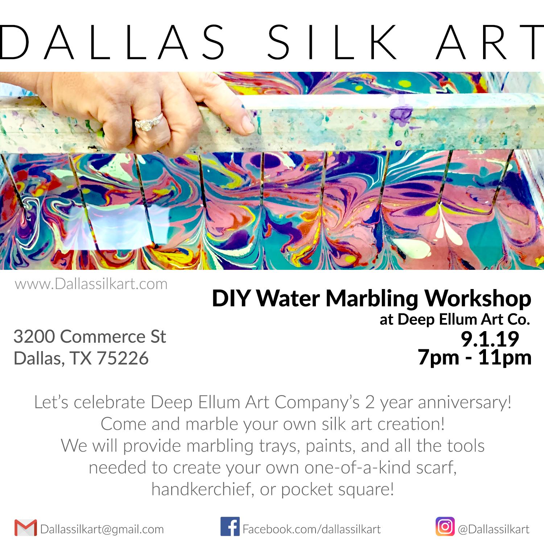 Dallas Water Company >> Diy Water Marbling Workshop At Deep Ellum Art Co Dallas