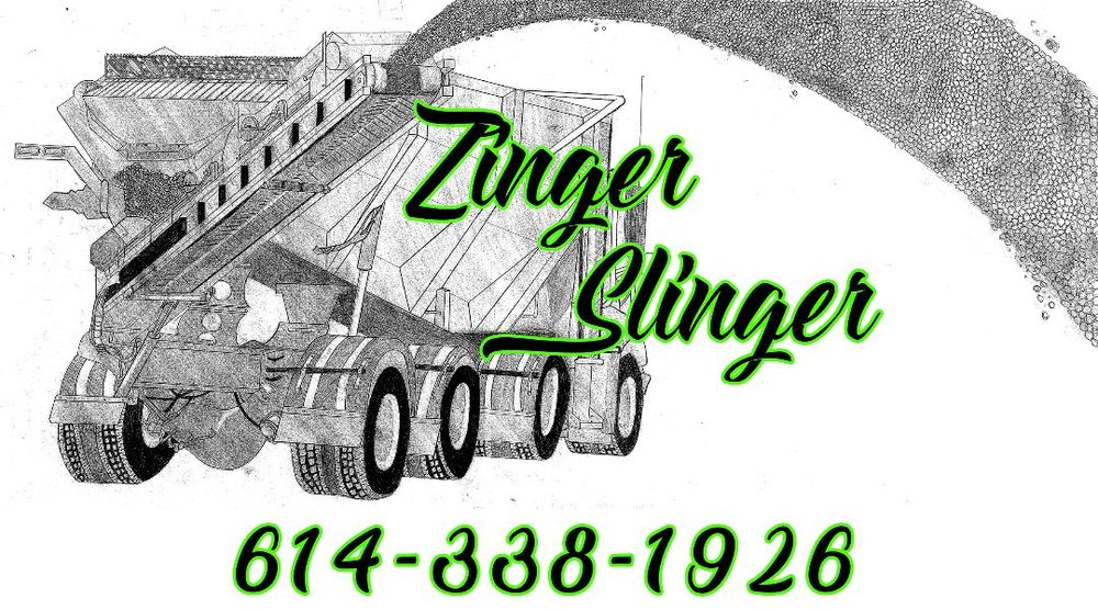 Zinger Slinger - Need gravel but don't have easy access? We can help you! Our slinger truck allows material placement in hard to reach areas.