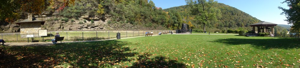 The park at the top of the World Famous Horseshoe Curve.