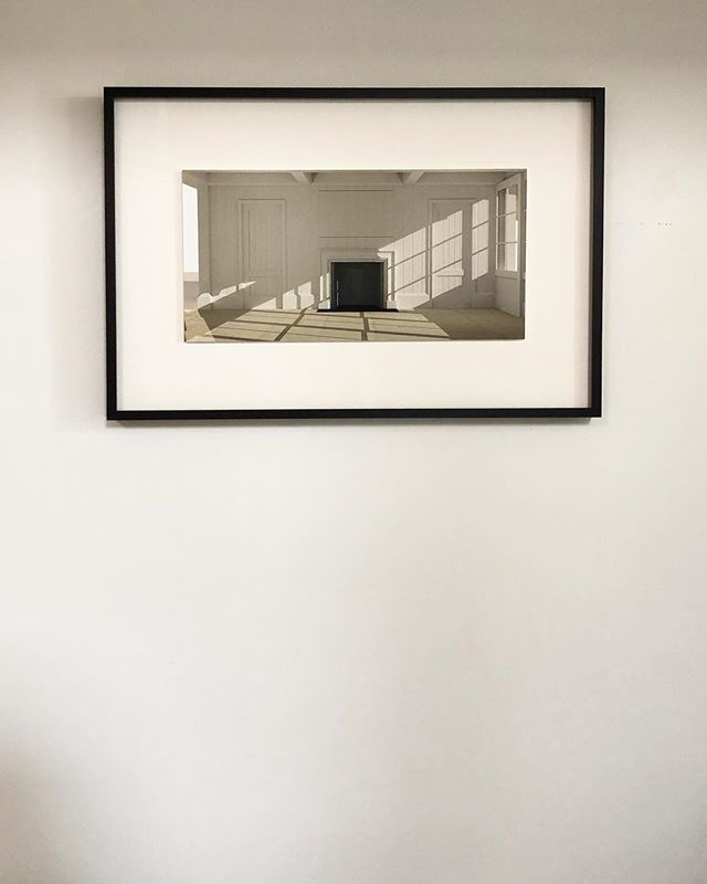 Is this a rendering or a photograph? Take your guess  Thank you @photoworkssf for doing a beautiful job printing and framing this piece! We're excited to have it on display.  #photoworkssf #printing #rendering #photograph #design #architecture #interiordesign