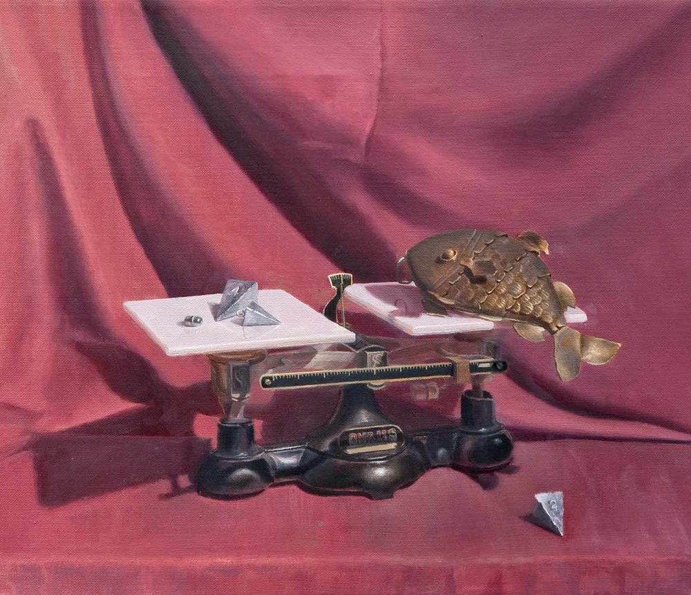 """Scales,  Oil on Linen, 11"""" x 14"""""""