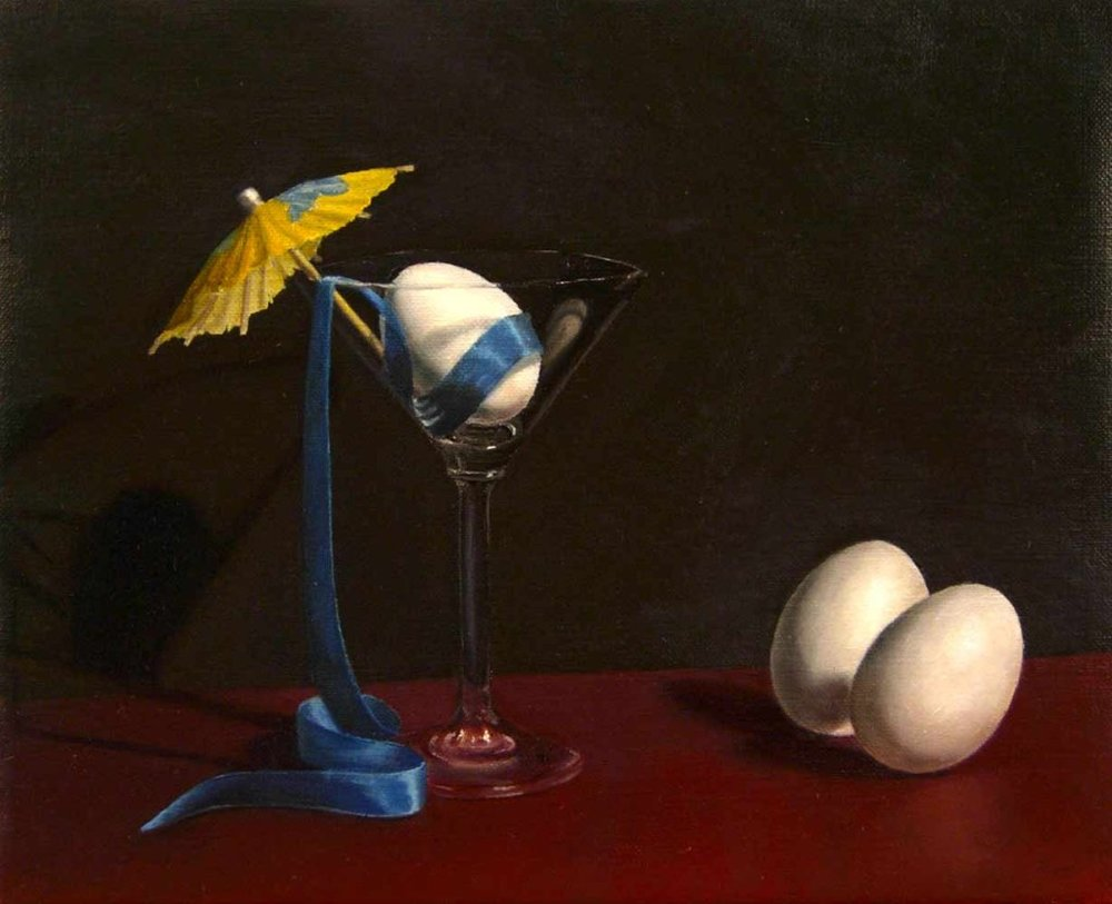 "Another Pickled Egg, Oil On Linen, 8"" x 10"""