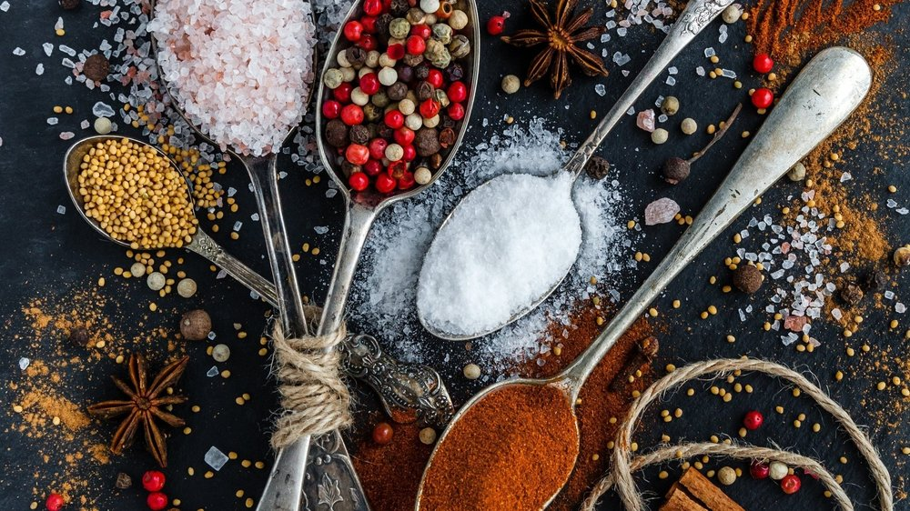 Spices - We carry our own label of spices and spice blends. Recreate the cuisines of the world with freshly packaged Cumin, Sumac, Mustard Seed, Coriander, Shawarma, Tumeric, Parsley, Basil, Oregano, and much more.
