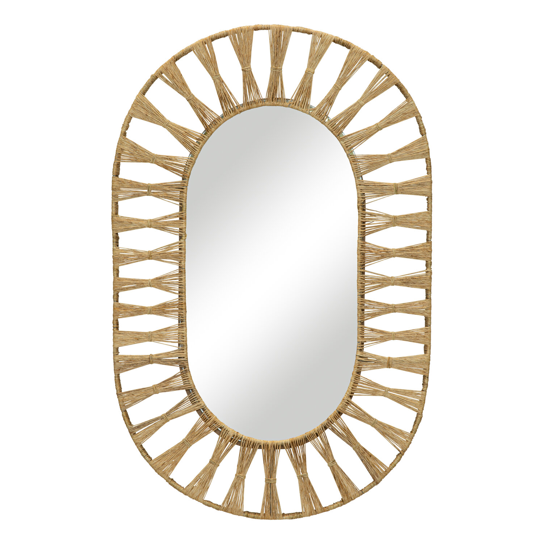 Ojai Oval Mirror In Natural Selamat