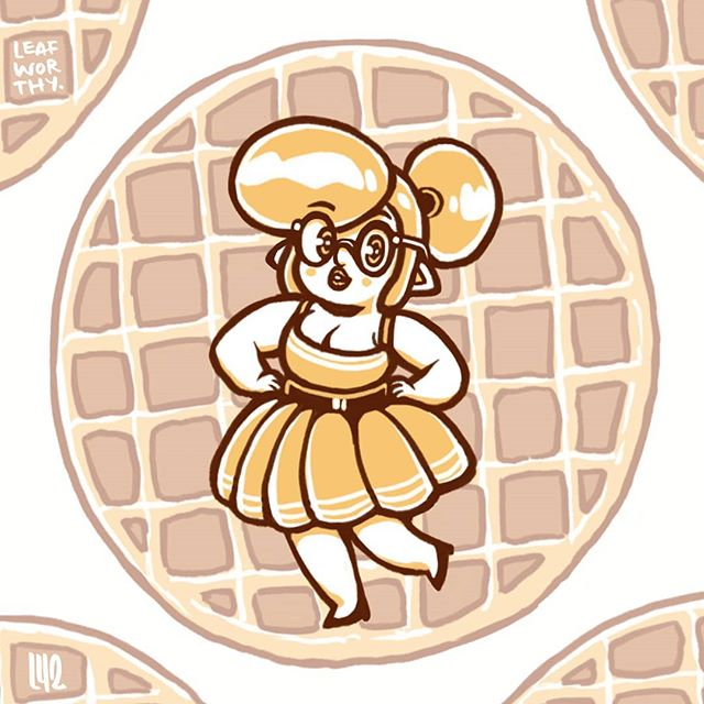 What is a Waffle? Waffles are thick, delicious, and all curves.  This is Gabbie Melonmonger, Gab-Gab for short. ♥️♥️♥️♥️♥️ Which shot is cuter? If you know any waffles in real life, tag them on this post to show your love. Also, follow me if you're into it! Thank you!🍁 . . . . #leafworthy #thestoryofkhale  #ocdrawing #fantasyartwork #drawingwhileblack #drawingartist #drawingofinstagram #illustration_daily #mangaartwork #drawing_feature #artwork_daily #animesketch #drawingforfun  #kawaiidrawing #plussized #plussizepinup #pinupart #kawaiii #illustrationdesign #dailyartchallenge #fantasyartist  #cuteart #pinupgirlclothing #pinupgirl #kawaiioftheday #effyourbeautystandards #fatshion #selflove #bodypositive