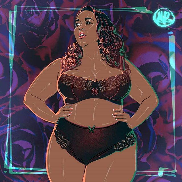 Portrait of the lovely 👑@gabifresh👑 You are amazing 🤗 Follow me if you're into it! Thank you!🍁 @playfulpromises @PREMME.us @swimsuitsforall . . . . #leafworthy #waffle  #drawingwhileblack #drawingartist #dailyartistiq #dailyarts #illustration_daily #drawing_feature #artwork_daily #drawingforfun  #plussized  #pinupart #illustrationdesign #dailyartchallenge #dailyart  #gabifresh #pinupgirlclothing #pinupgirl  #effyourbeautystandards #fatshion #selflove #bodypositive #plussizemodeling #portraitartwork #portraitartist #plussizemodels  #lingerieplussize #lingerielovers #lingeriefashion